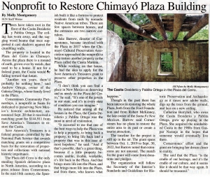 Chimayo Plaza Restoration Project