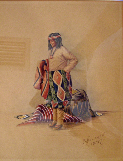Colored Penscil Drawing By Arthur Seligman Dated 1897