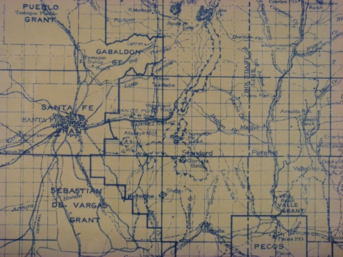 1924 US Forest Service Map - Santa Fe District