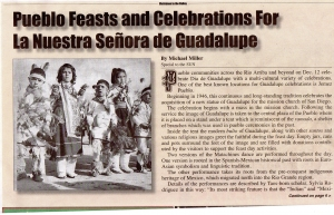 Pueblo Feasts and Celebrations for La Nuestra Senora de Guadalupe