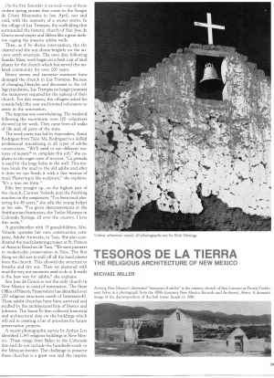 TESOROS DE LA TIERRA: THE RELIGIOUS ARCHITECTURE OF NEW MEXICO (Part 1)