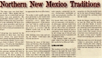 Northern New Mexico Traditions