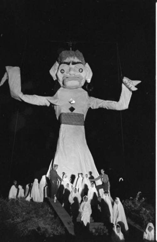 Zozobra and Glooms, 1949.  Photo by Peter Stackpole