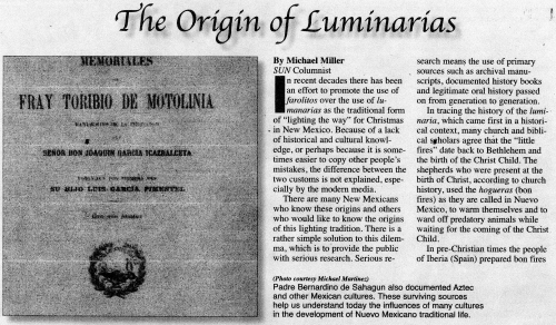 THE ORIGIN OF LUMINARIAS
