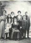 Graceus Marie Inda and her children. Back row:  Kate, Margaret, Mary, and John.  Front row:  Josephine, Graceus, and Peter