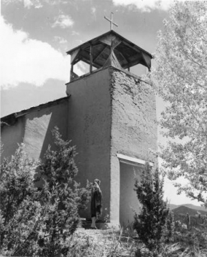 Church in the Village of Tesuque, NM Dept. of Tourism, 1955