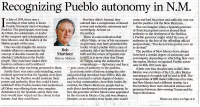 Recognizing Pueblo Autonomy