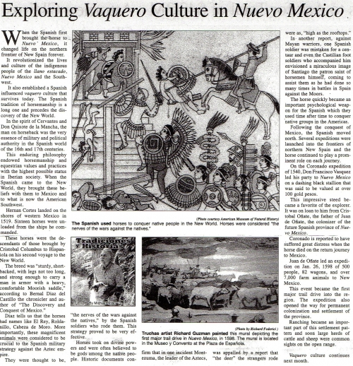 Exploring Vaquero Culture in Nuevo Mexico
