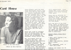 Card House Closes in late 1978