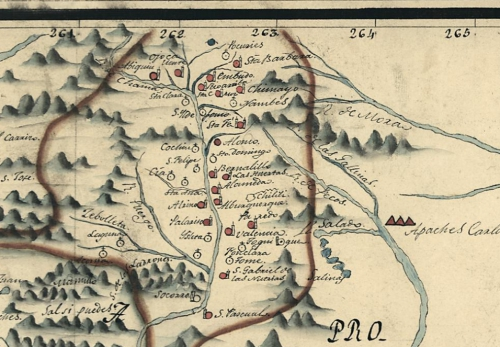 Urrutia 1767 Map Of Northern Mexico