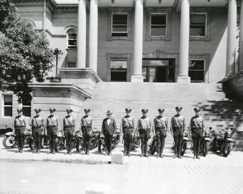 New Mexico Motor Patrol inaguration with Governor Arthur Seligman August 5, 1933