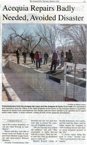 Acequia Project: Santa Cruz