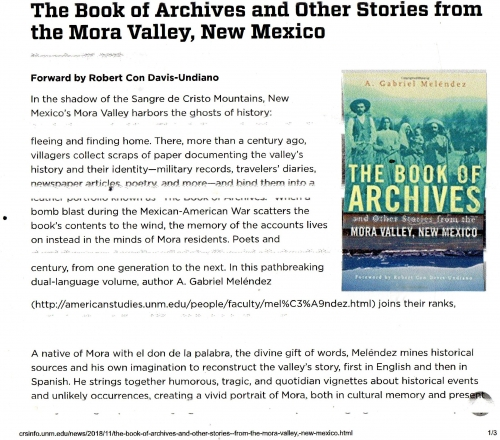 The Book of Archives and Other Stories from the Mora Valley