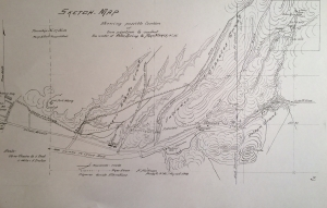 sketch map of Aztec Springs by Hugo Hartmann