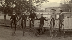 Bicycling in Santa Fe, 1900