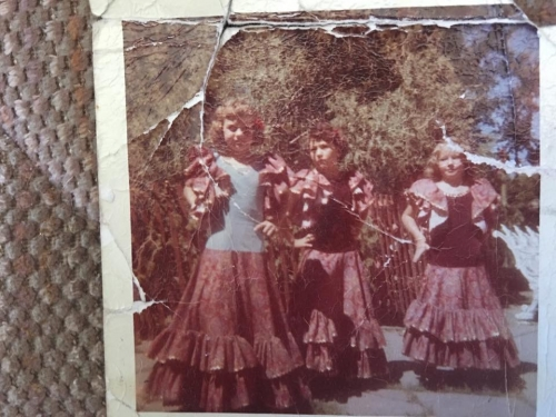 Dancing on the plaza at Fiestas de Santa Fe about 1957-58
