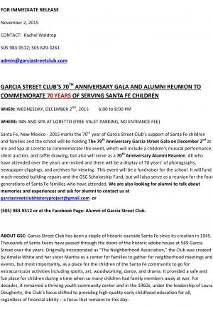 Garcia Street Club 70th Anniversary Celebration!