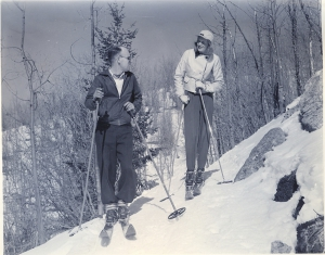 Santa Fe Ski Fashion on Big Tesuque - 1940