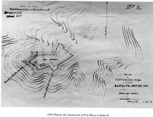 PLAN FOR FORT MARCY, 1846