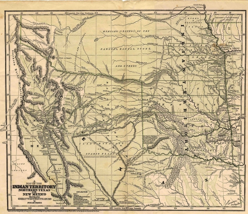 Josiah Gregg's 1844 Map of the Santa Fe Trail