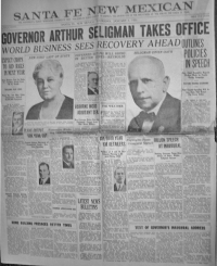 Governor Seligman Second Term Jan. 1, 1932
