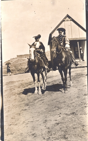 Date and location definatively unknown. However, most likely George Washington Armijo in the first 1692 Devargas Pageant taken in 1911.