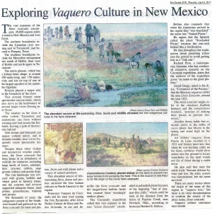 Exploring Vaquero Culture in New Mexico