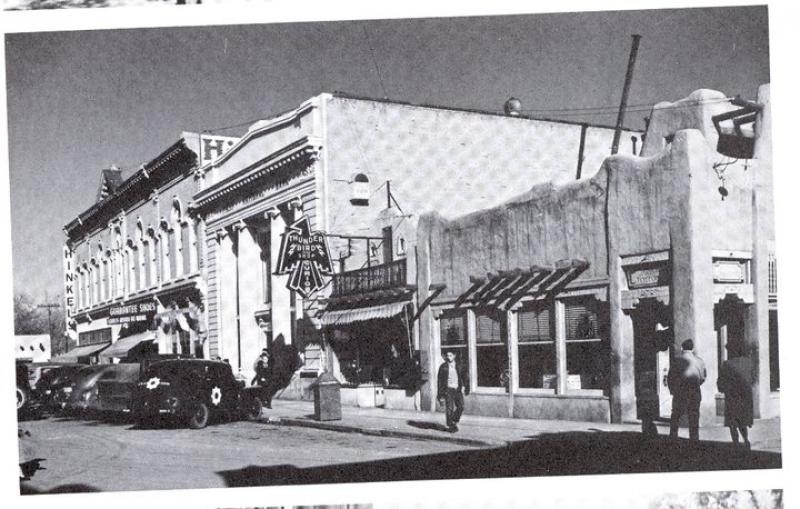 Voces De Santa Fe East Side Plaza Ca 1940