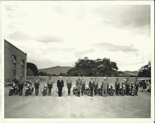 First NM Motor Patol Traing Class At St Micheals College 1932 Personal Collectio. of Seligman photos.