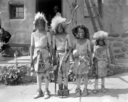 Tesuque Pueblo Boy Buffalo Dancers, 1931
