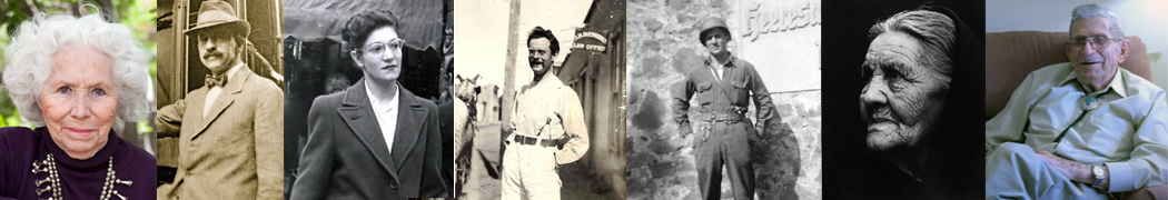 From left:  Adelina Ortiz de Hill, 2011; Arthur Seligman, 1920; Dolores Esquibel Baca, 1956; Alois B. Renehan, 1895; Ramon Montes, 1944; Isabela Chavez, 1936, Elbert E. Earnest, 2011